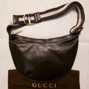 GUCCI Shoulder Bag Half Moon Hobo Rare Authentic